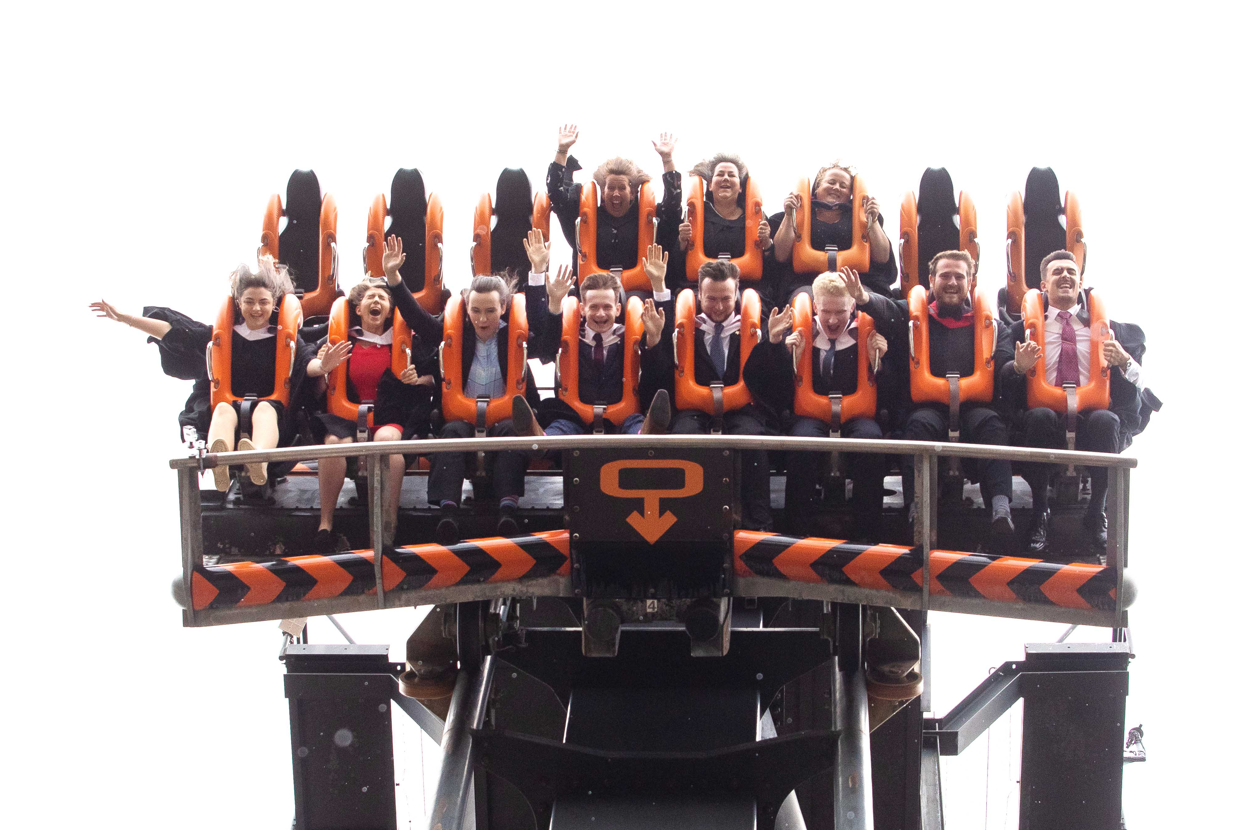 Graduates On Oblivion With The Dean Of Staffordshire University Business School June Dennis And Academics From The University 2