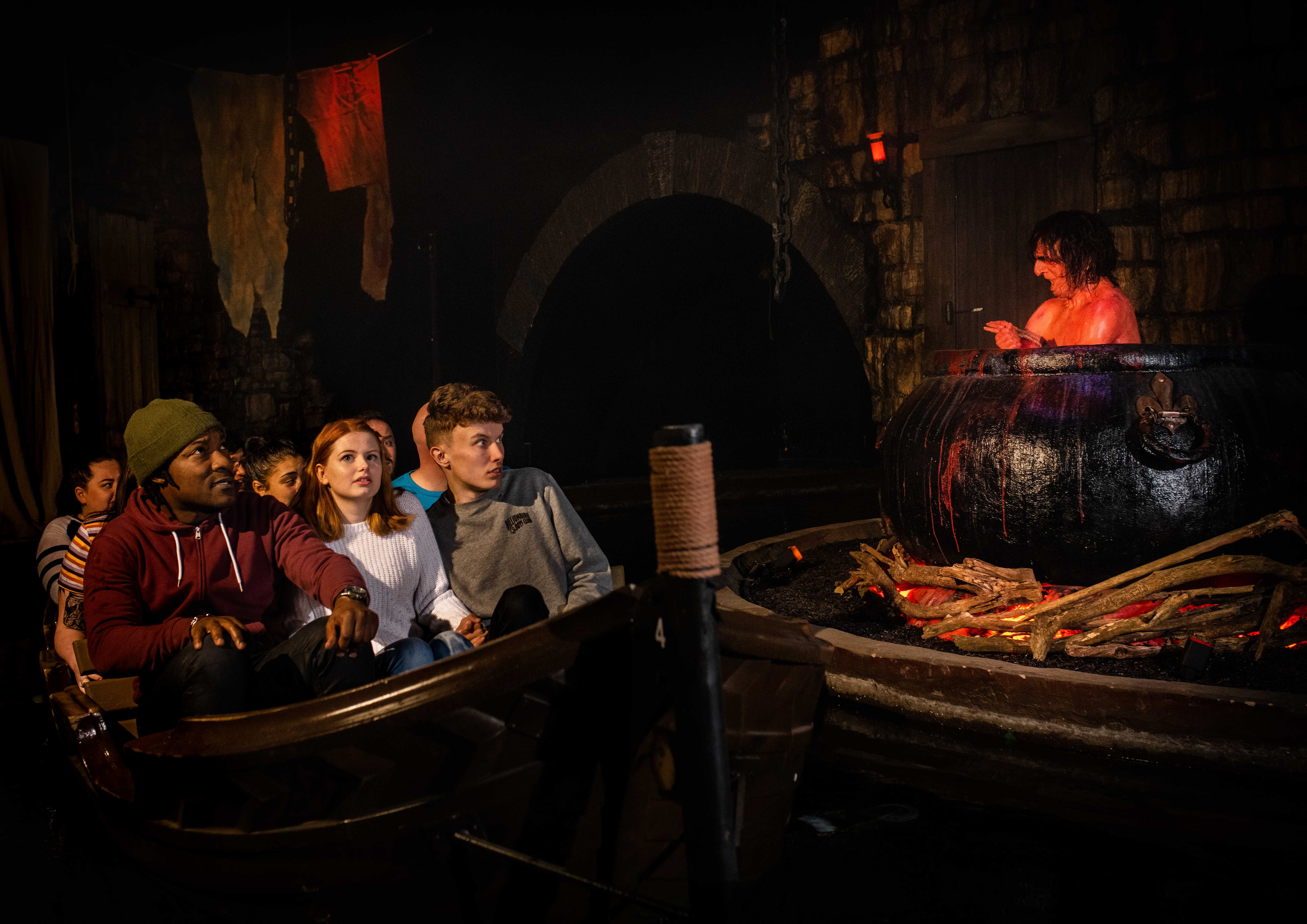 The Boat Ride at The Alton Towers Dungeon